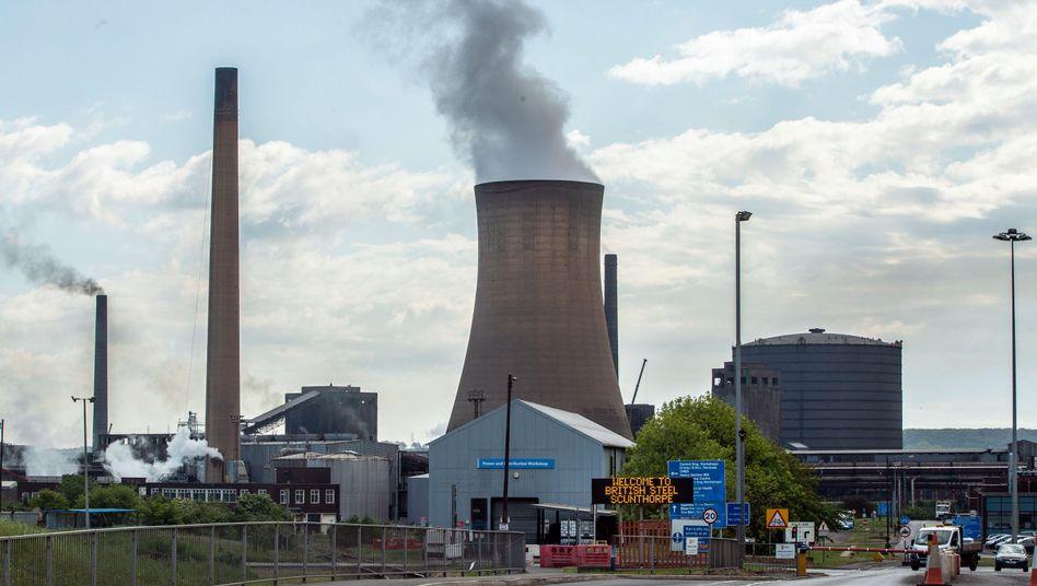 Stahlwerk von British Steel in Scunthorpe, Großbritannien: Der zweitgrößte britische Stahlproduzent ist insolvent, rund 5000 Arbeitsplätze sind in Gefahr