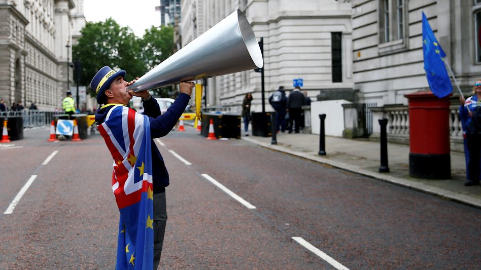 Anti-Brexit Protest in der Downing Street
