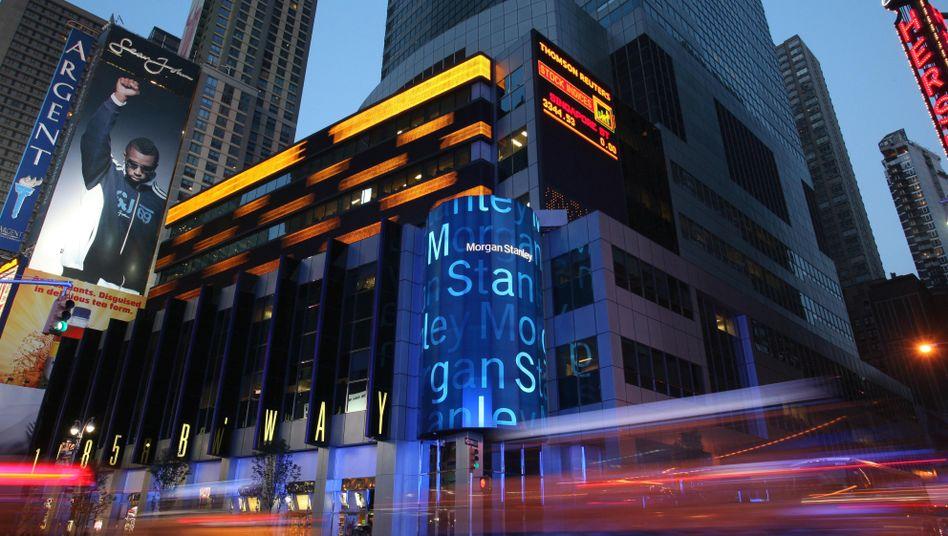 Morgan Stanley in New York: Erlöse um 25 Prozent auf knapp 10 Milliarden Dollar gestiegen