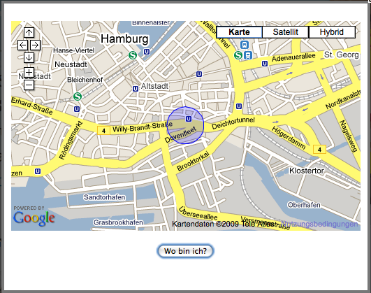 Positionsbestimmung mit Firefox: Auf dem Notebook dank W-Lan-Peilung erstaunlich genau