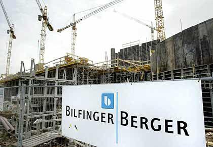 Schwieriges Geschäft: Baustelle von Bilfinger Berger