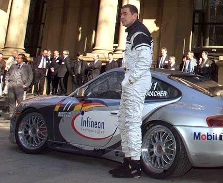 Schumacher beim Börsengang von Infineon: Begeisterter Rennfahrer