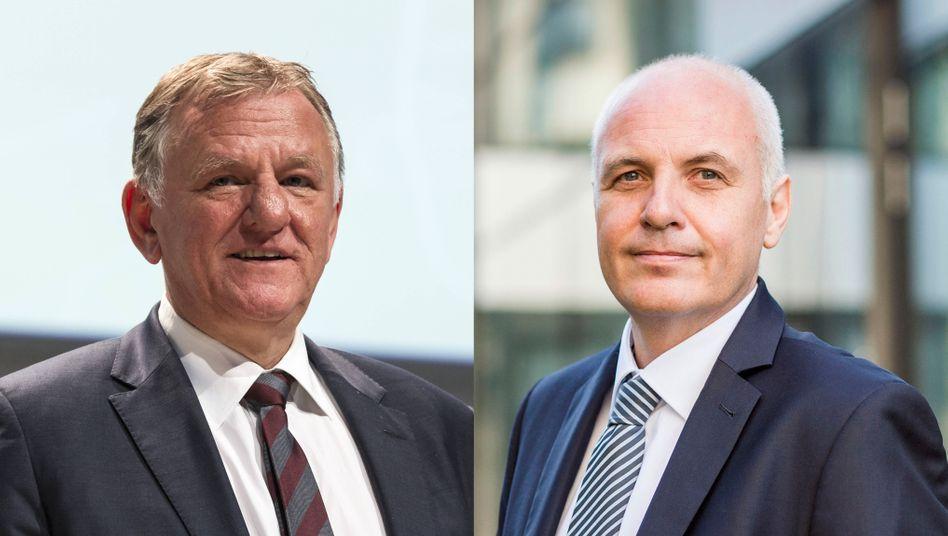 Der neue und der alte Truck-Chef bei Volkswagen: Matthias Gründler (re) und Andreas Renschler (li)