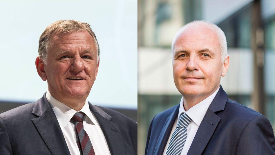 Der neue und der alte Truck-Chef bei Volkswagen: Matthias Gründler (r.) und Andreas Renschler.