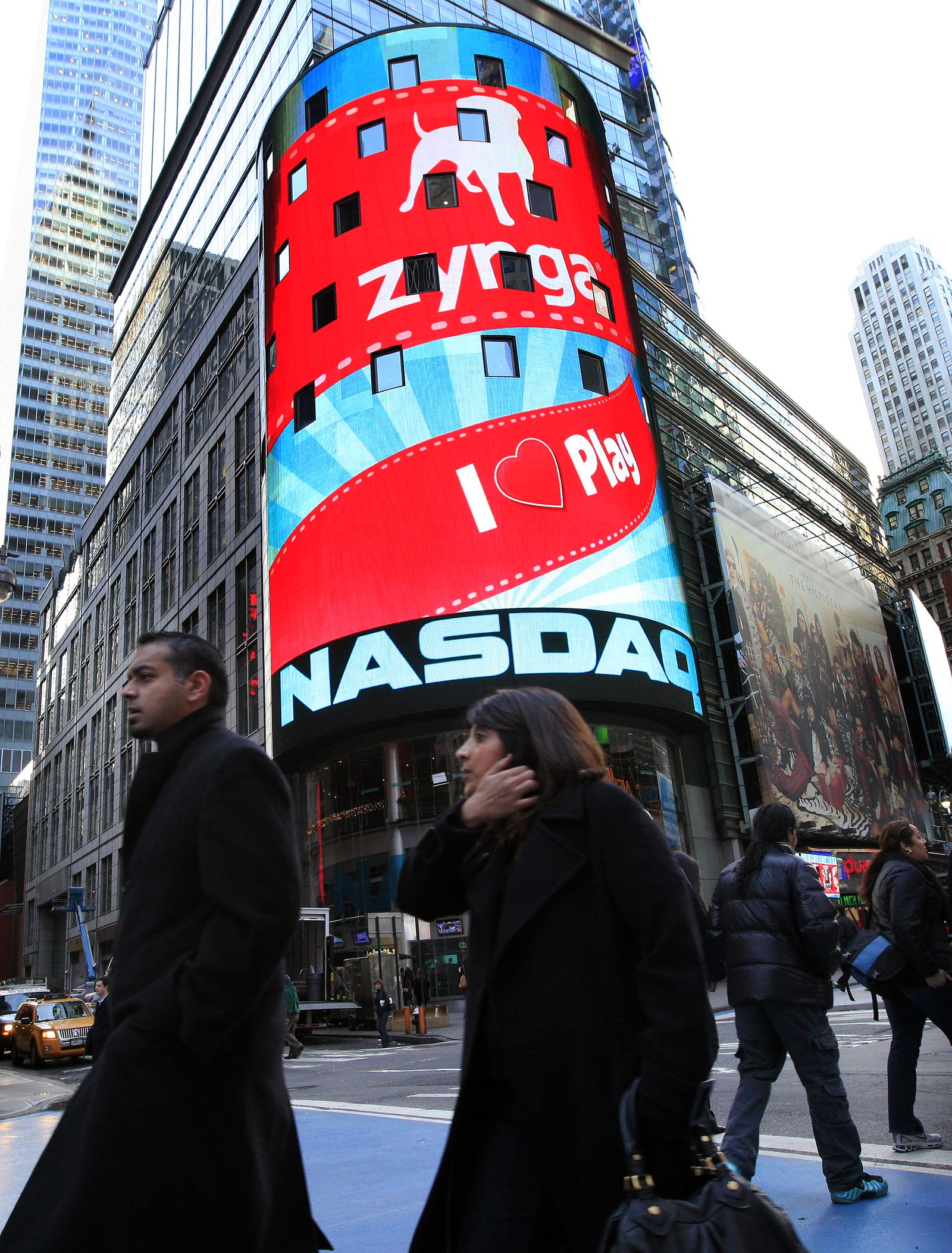 Zynga / Nasdaq / NY Times Square