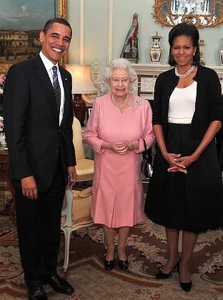 Willkommen in London: Die Obamas sonnen sich im königlichen Glanz