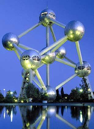 Atomium in Brüssel: Belgien und die Niederlande belegen durchgängig Plätze im guten Mittelfeld der EU-Standorteliga