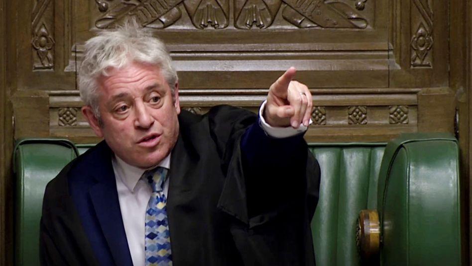 Parlamentssprecher John Bercow. Das endlose Theater im Parlament schlägt selbst Algo-Trader in die Flucht