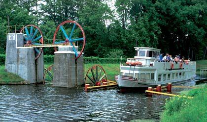 Gut vernetzt: In Masuern sind fast alle Seen durch Flüsse oder Kanäle miteinander verbunden