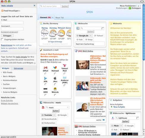 Die große Übersicht: Wetter, E-Mails, Nachrichten, Videoportale - Netvibes stellt alles auf eine Seite