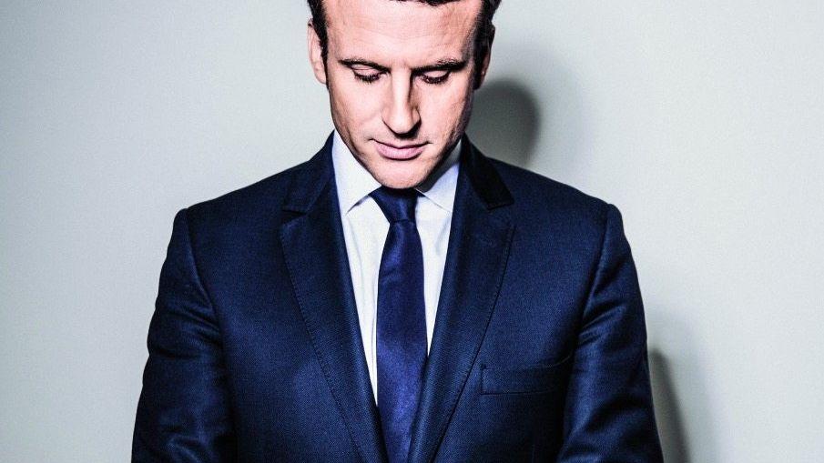 DER FAVORIT Emmanuel Macron liegt in den Umfragen an der Spitze