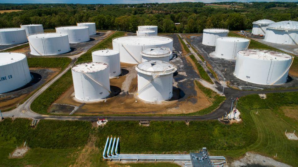 Nachschub: Entlang der Ostküste betreibt Colonial Pipeline etliche Benzinlager