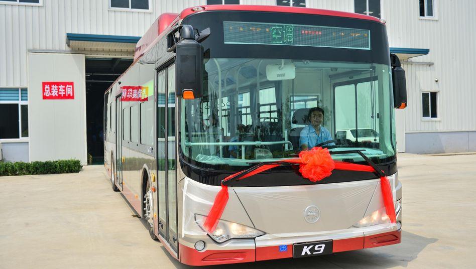 Elektrobus von BYD: Bisher vor allem in China unterwegs