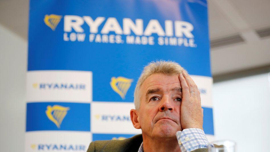 Ryanair-Chef Michael OLeary warnte davor, die Jahresziele möglicherweise zu verfehlen