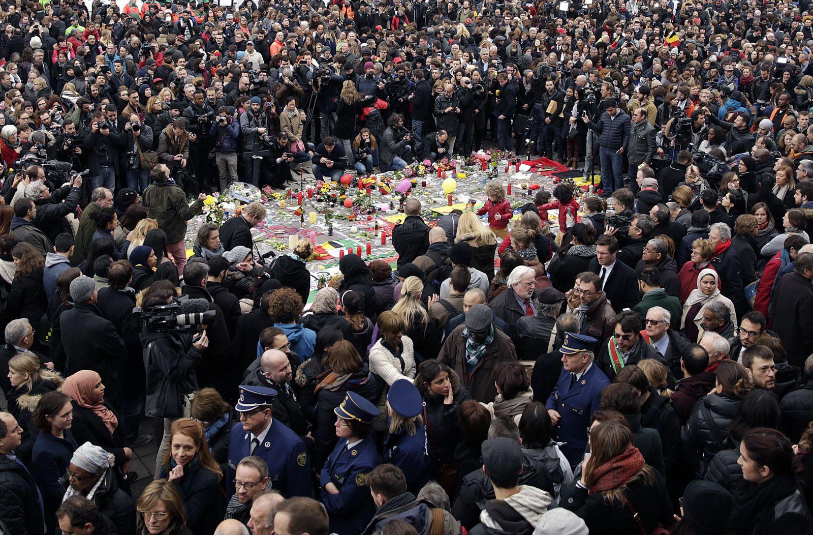 Anschläge in Brüssel / Gedenken / Schweigeminute