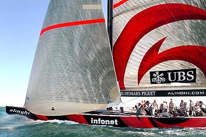 Wettstreit der Milliardäre ums Prestige: Das Alinghi-Boot