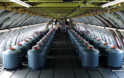 Passagiere nur als Attrappen: Prototyp des Airbus A380 mit Wasserbehältern als Gewichten
