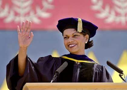 Sie hat ihn: Condoleezza Rice promovierte in Politikwissenschaft
