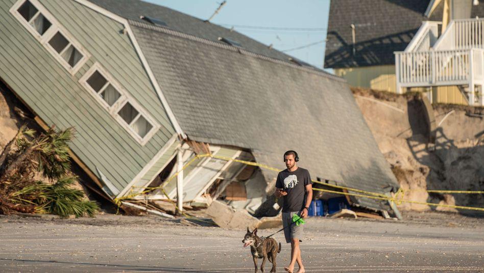 Vilano Beach in Florida: Die Menschen kehren nach dem Sturm zurück und stoßen auf große Zerstörungen, noch schlimmer ....