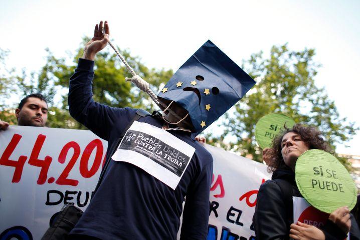 Proteste in Spanien: Die Euro-Krise schlägt durch