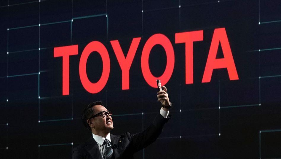 Toyota-Chef Akio Toyoda bei einer Veranstaltung
