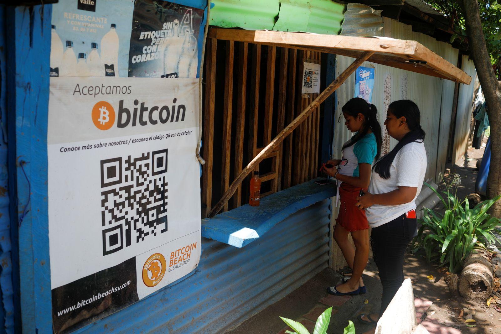 People use Bitcoin in El Zonte Beach in Chiltiupan, El Salvador