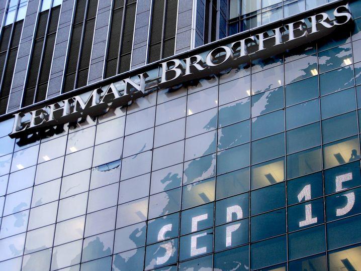 Das Schreckensbild der Bankbranche: Die Lehman-Pleite 2008 schickte Schockwellen um die Welt