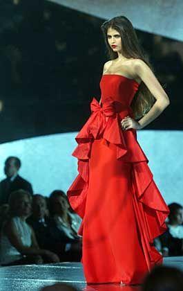 Traum in Rot: Entwurf von Valentino