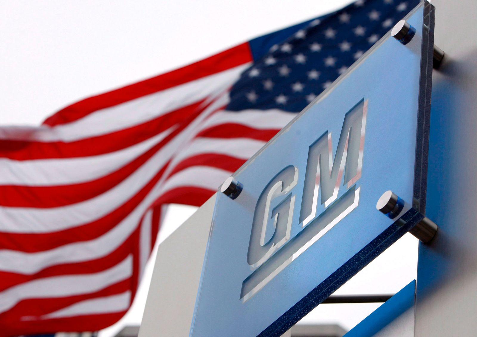 General Motors / Logo / US-Flagge