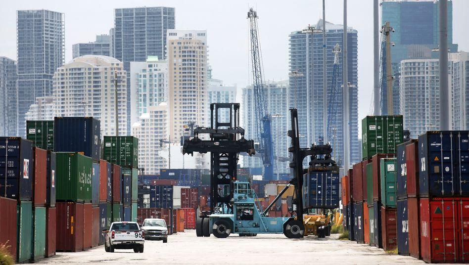 Hafen in Miami (US-Bundesstaat Florida): Die deutschen Ausfuhren außerhalb der EU brachen besonders stark ein