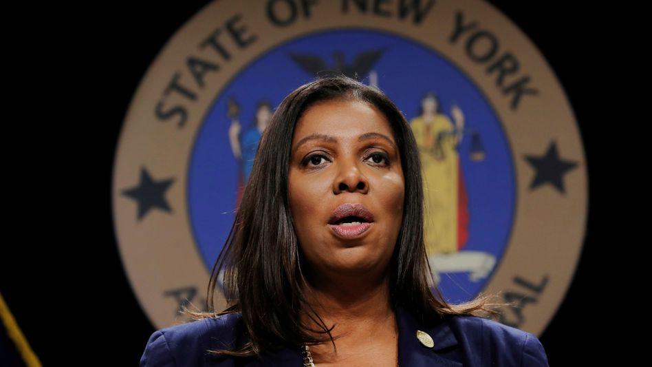 Greift durch: New Yorks Generalstaatsanwältin Letitia James