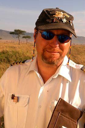 Der Chef: David Acton kutschiert die Gäste sicher über die Masai Mara