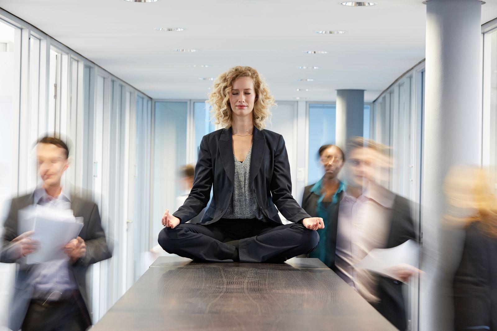 EINMALIGE VERWENDUNG Meditation / meditieren / Stress