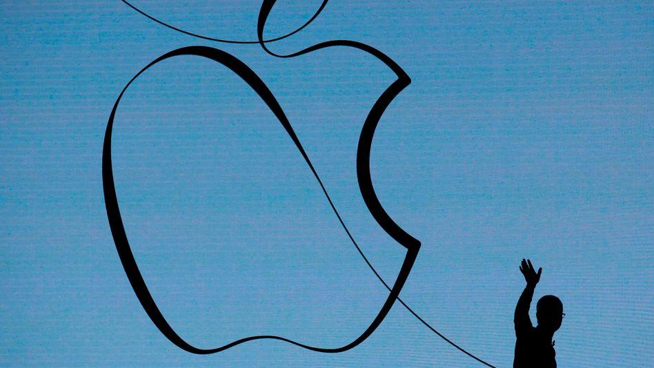 Apple-Chef Tim Cook bei einer Präsentation in Chicago