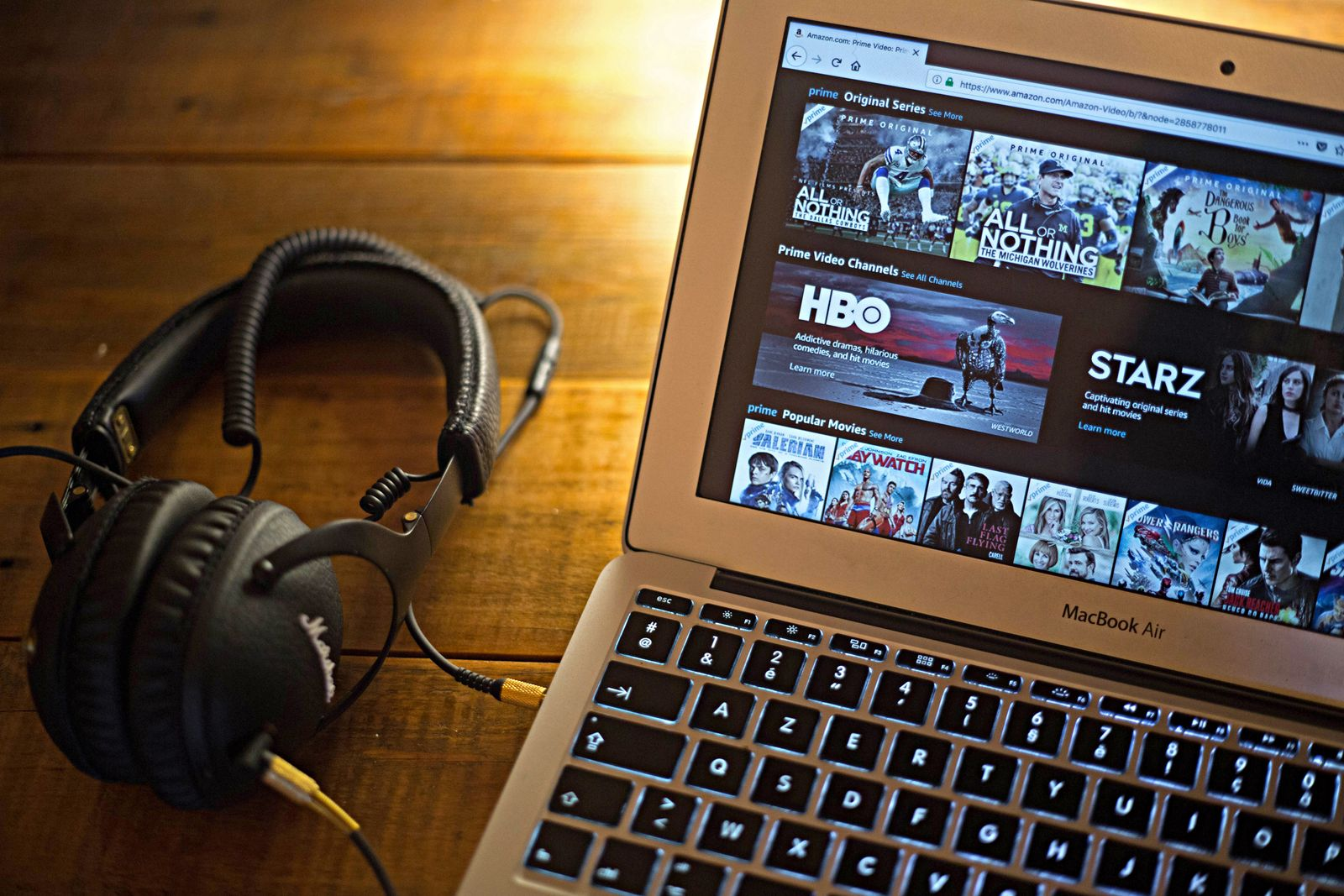 The Amazon Video (Prime Video) website seen displayed on a