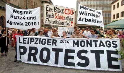 Anti-Hartz-Demo in Leipzig vergangenen Montag: Der Protest geht weiter