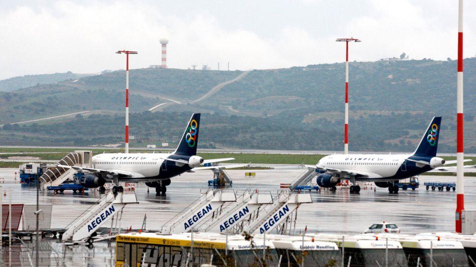 Flughafen in Athen: Die Fluglotsen streiken