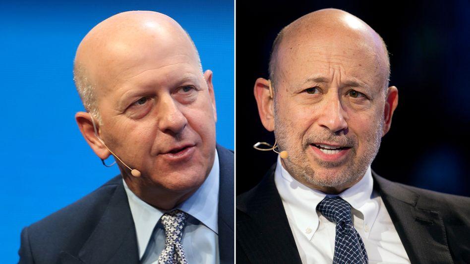 Der Neue: David M. Solomon (links im Bild) führt Goldman Sachs ab 1. Oktober. Lloyd Blankfein (rechts im Bild) geht Ende September