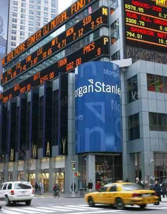 Schlagzeilen in Serie:Zentrale von Morgan Stanley in New York