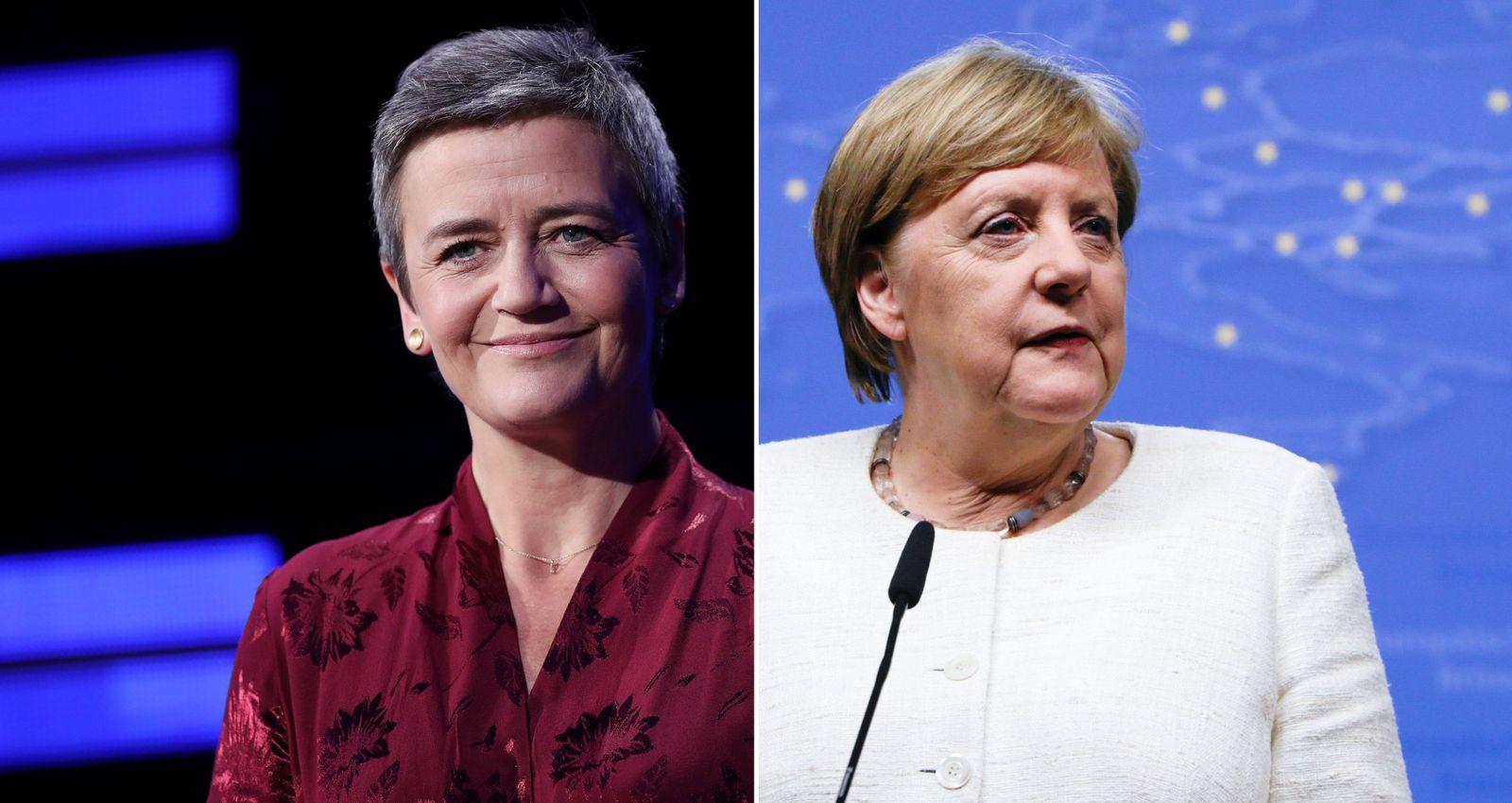 2er Kombo Margrethe Vestager und Angela Merkel