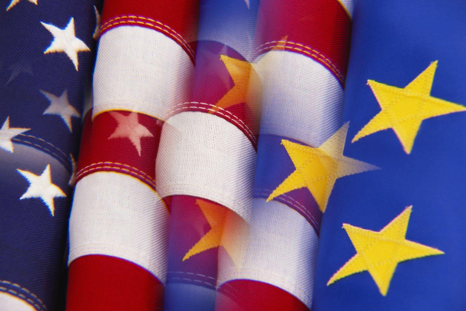 NICHT MEHR VERWENDEN! - EU - USA / Flagge / Symbol