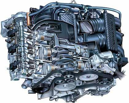 Hitkomponisten unter den automobilen Klangbildnern: Porsche-Motoren, hier vom 911 Carrera