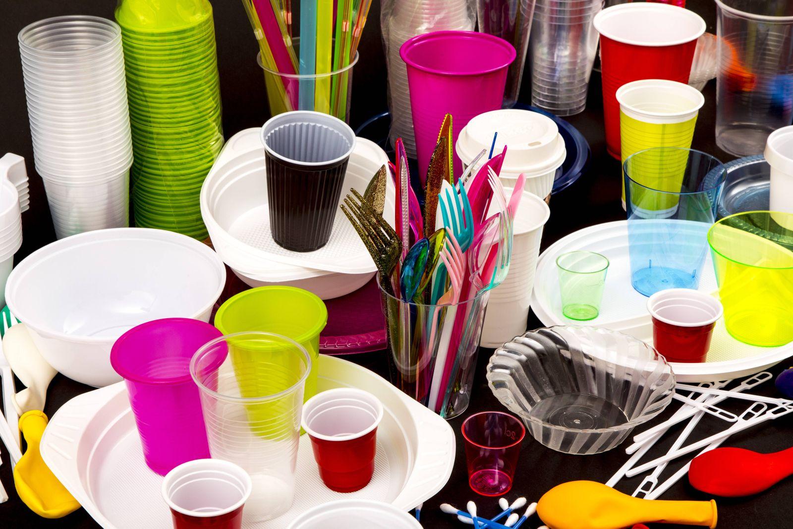 EINMALIGE VERWENDUNG Einweggeschirr / Plastik
