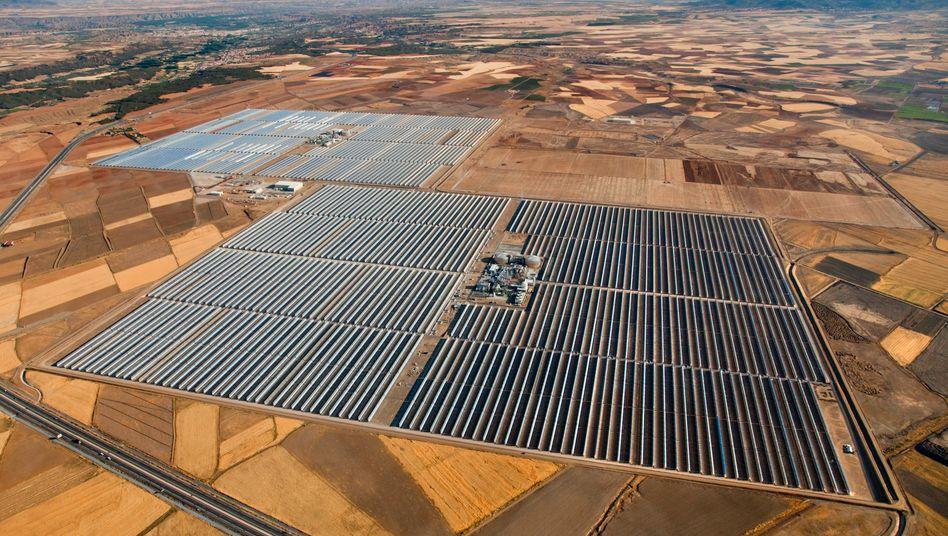 Ein solarthermisches Kraftwerk in Spanien: Die Technik stammt von der Solar-Millenium-Tochter Flagsol.