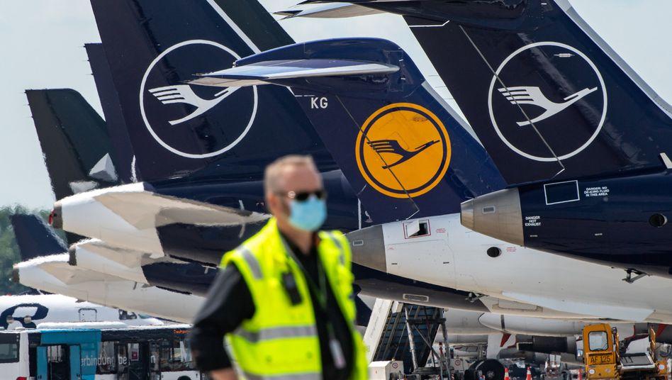 Lufthansa-Maschinen in München: Noch tiefere Einschnitte bei Personal und Flotte