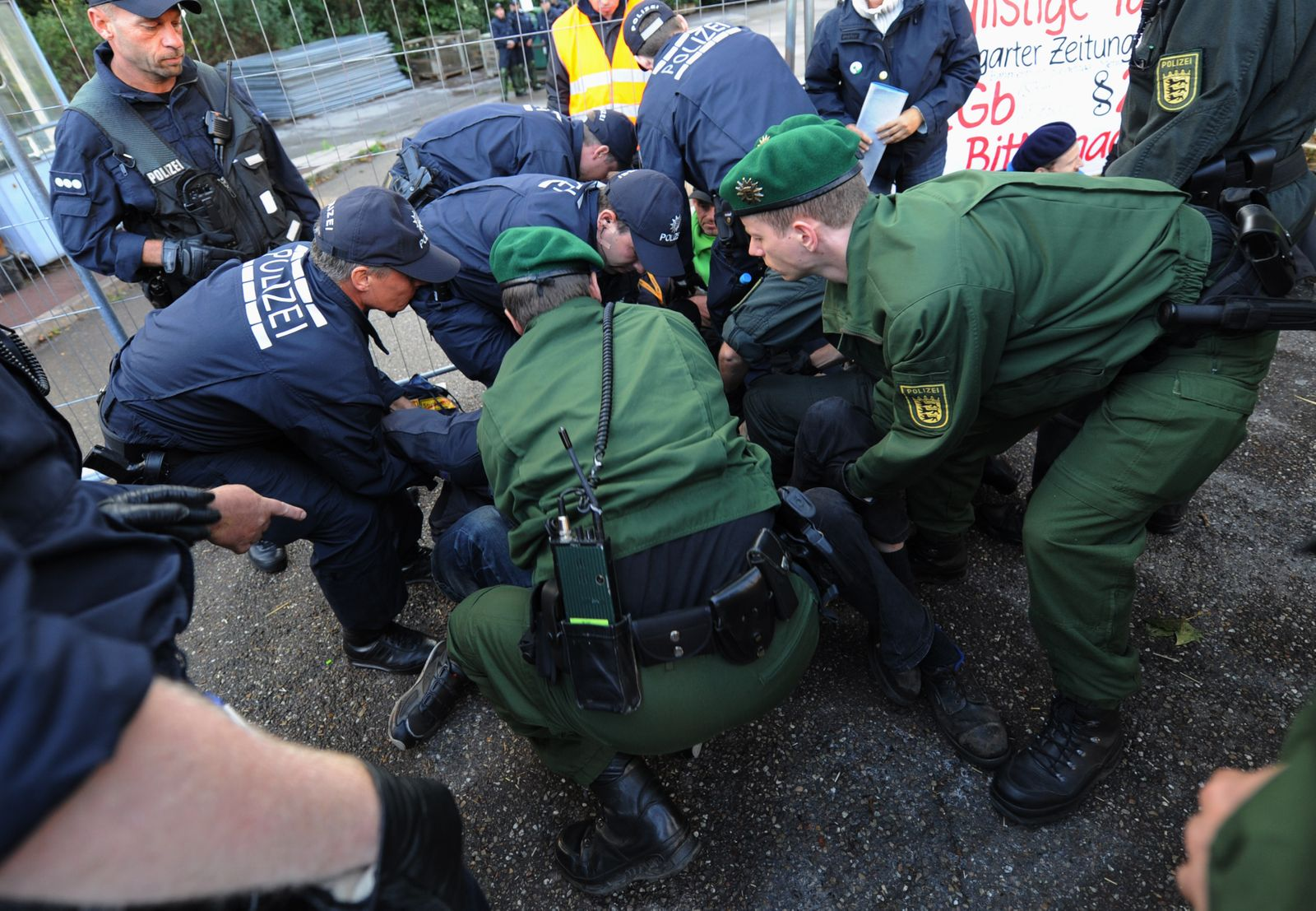 Stuttgart 21 - Blockade aufgehoben