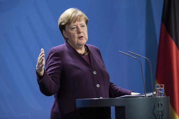 Angela Merkel am Montagabend