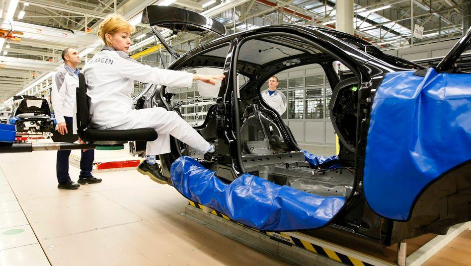 Volkswagen-Produktion In Russland. Dort setzte VW deutlich mehr Autos ab