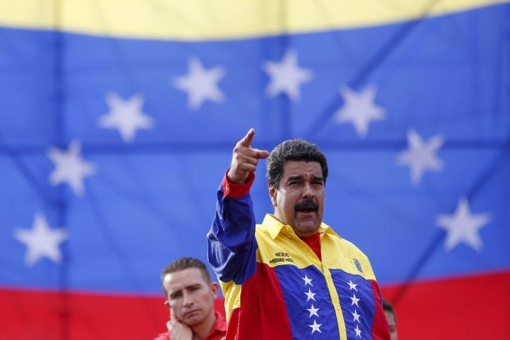 Venezuelas Präsident Maduro: Wegen der Wirtschaftsmisere verlor seine linksgerichtete Partei jüngst eine wichtige Wahl