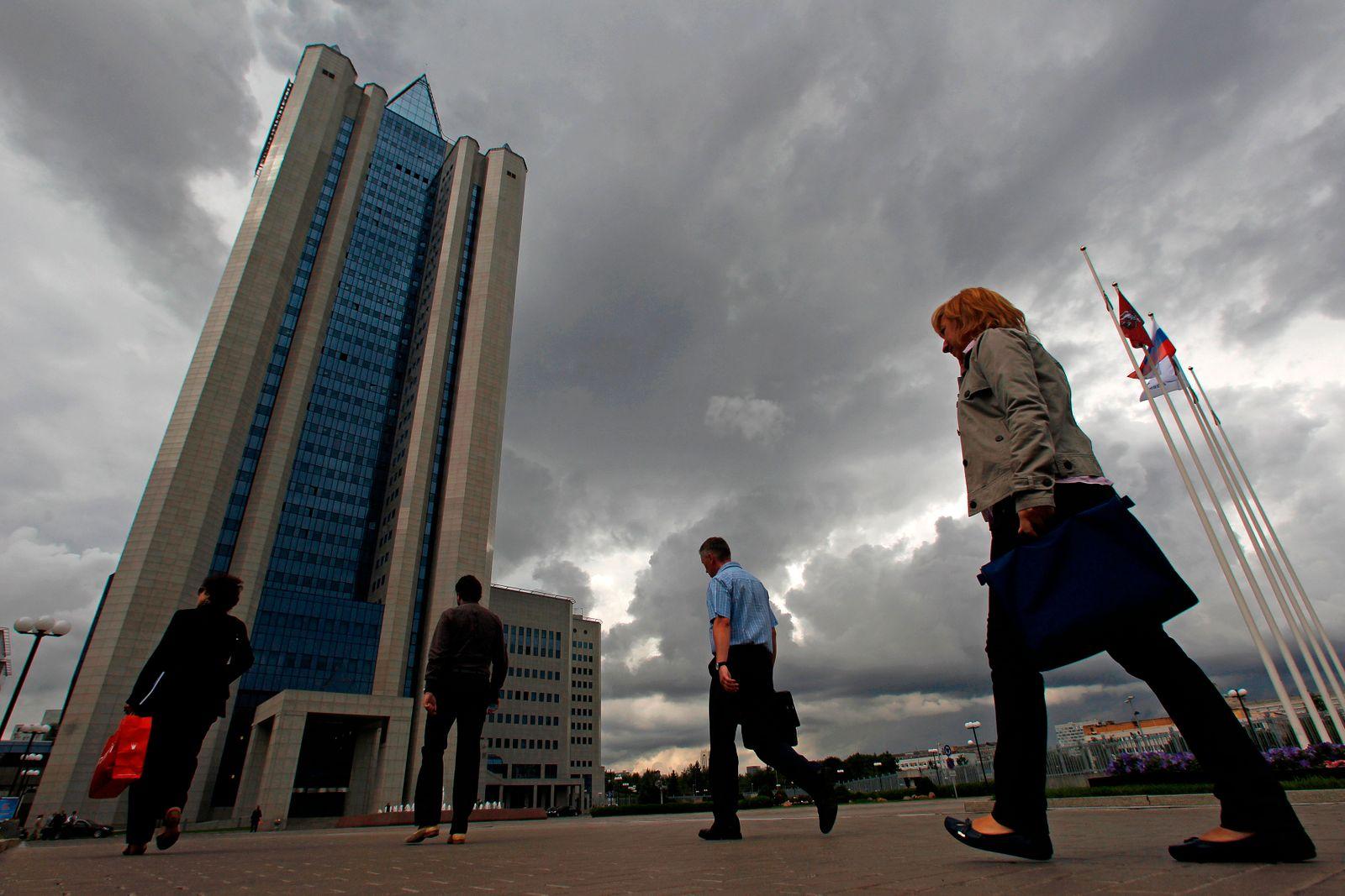 Gasprom / Gazprom / Zentrale / Dunkele Wolken